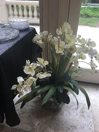 Faux orchid in ornamental pot ($94)