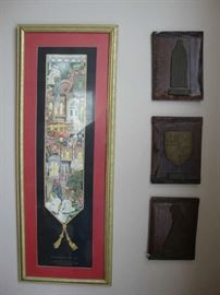 Dickens Print and Antique English Bronze Etchings