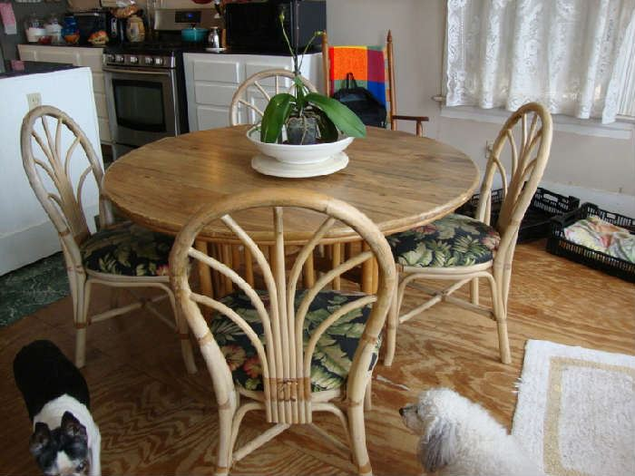 Bamboo Kitchen Table and Chairs