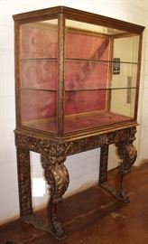 10. 19th C Carved Venetian Vitrine