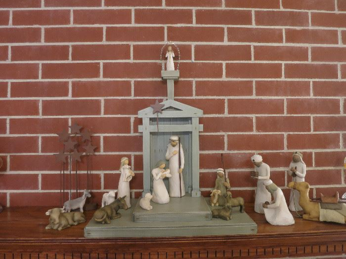 The Picture Does Not Do This 20 Piece Willow Tree Nativity Justice! It's Beautiful!