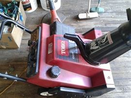SNOW BLOWER BY TORO--NEWER MODEL --EXCELLANT CONDITION