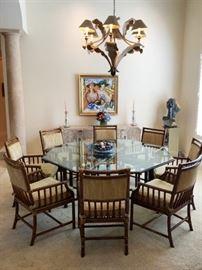 1. Mcguire Rattan Dining Set