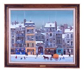 2. Michel Delacroix French, 1933   Oil On Canvas