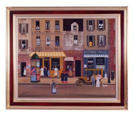 6. Michel Delacroix French, 1933 Oil On Canvas