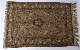 11. Handwoven Turkish Metallic Thread Carpet