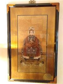 PAIR of wonderfully framed/matted Chinese ancestral prints