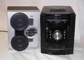 Sharp Home Stereo w/ 2 mismatched RCA Speakers