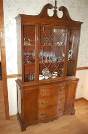 Beautiful antique china cabinet/hutch.  Very nice size.