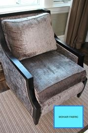 Mohair Fabric Side Chair