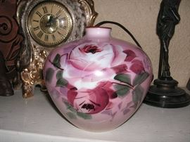 Hand painting Victorian glass vase