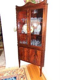 Manheim Antiques New Orleans Corner Cabinet