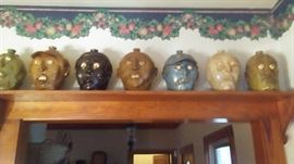J. R. Copper Face Jugs