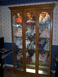 large lighted display case