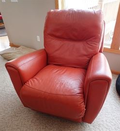 MACY'S LEATHER RECLINER ALSO SWIVELS -                   2-AVAILABLE