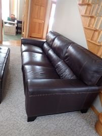 "LEATHER SOFA  90"" LONG X 40"" DEEP - GREAT CONDITION"