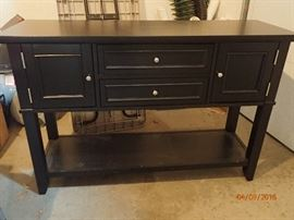 Black Console table with storage