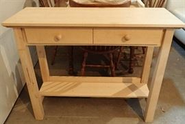 NATURAL SOFA TABLE WITH DRAWERS
