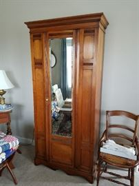 Hall Armoire - Antique Mission Style/Arts & Crafts