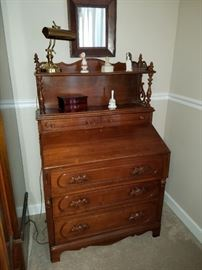 Antique Secretary with carved details