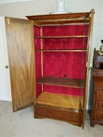 Inside Armoire with Silk Lining