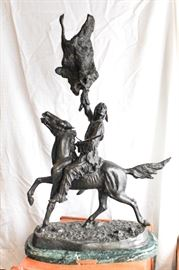 "37"" Remington  Bronze Statue"
