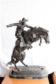 "27""-30"" Remington Bronze Statue"