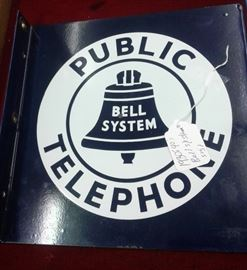 1930's -40's Bell System Telephone  Sign