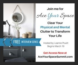 My segment is March 23rd!  Join us beginning 3/19 for the FREE #AceYourSpace Summit: Clear Your Physical and Mental Clutter to Transform Your Life. http://aceyourspacesummit.com/Victoria