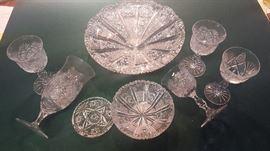 Czech cut glass