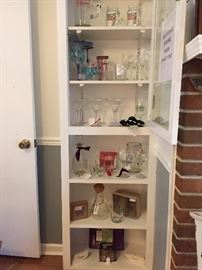 Bar ware. Budweiser pitcher, glasses & more.