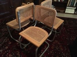 child's size set of 4 modern cane chairs