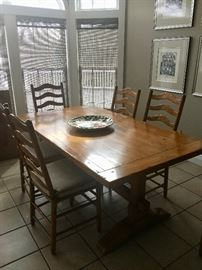 Guy Chaddock Farmhouse dining table & chairs