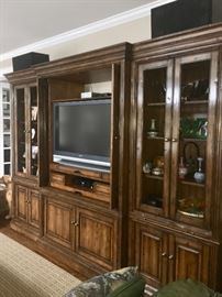 Gorgeous custom made lighted wall unit