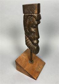 Lot 1 CHARLES STEINER Figural Head Sculpture Heavy. Rou