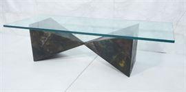 Lot 5 PAUL EVANS 67 Welded Steel Coffee Table. Modernis
