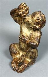Lot 6 KNUD KYHN for ROYAL COPENHAGEN Figural Sculpture.