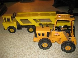 Vintage Tonka forklift & car carrier