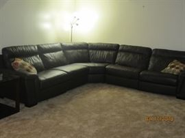 Like new black leather sectional from Carson's, willing to pre sell this only for $1800 was over $3000 new