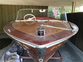 1960 Cavilier Chris Craft boat refurbished in 1980, it's in comes with trailer and cover. sealed bid item