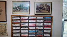 Lots of classical/religious music including many CDs.