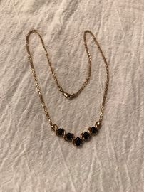 Sapphire and Gold Necklace