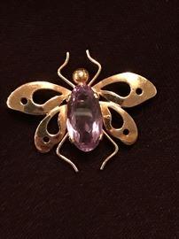 14 Karat Gold TIFFANY Bug Pin