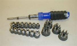 Screw gun tips, small sockets, ratchet screw driver