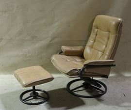 swivel easy chair with ottoman