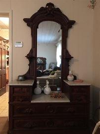 Victorian Marbel Top Dresser
