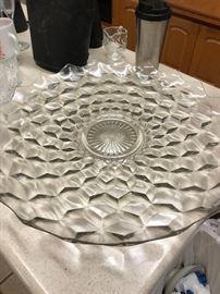 Huge Fostoria  Glass Platter