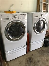 2 yr old LG Steam Front Load with Pedastels $2,000 New