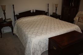 King size early American headboard.  Also twin size electric bed by Cresent
