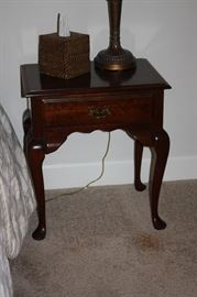Queen Anne cherry end tables by Cresent